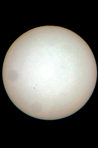 August 24th Sunspot Location
